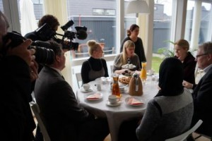 Statsminister Helle Thorning-Schmidt og borgmester Steen Christiansen var til te i Fiskens Kvarter